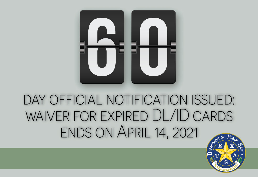 DPS Issues 60-Day Notice